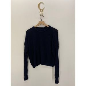 Brandy Melville Crew Neck 100% Cotton Sweater Blue